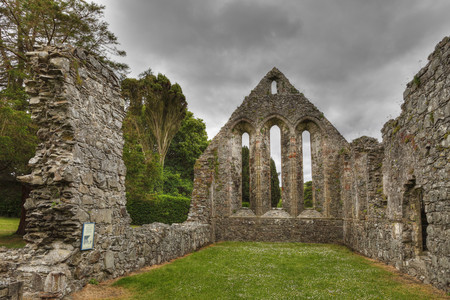 United Kingdom,Northern Ireland,County Down,View Of Ruined Grey Abbey