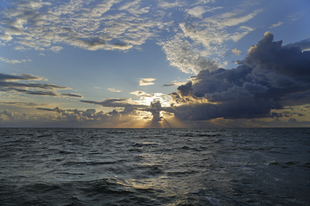 Netherlands,Ijsselmeer,View Of North Sea And Clouds At Evening