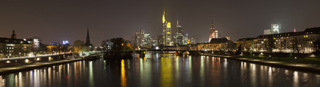 Germany,Frankfurt,View Of City At Night