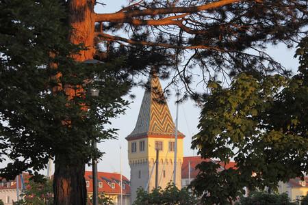 Germany,Bavaria,Swabia,Lindau,View Of Mangturm Tower