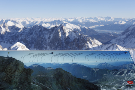 Germany,Bavaria,View Of Snowy Wetterstein Mountains