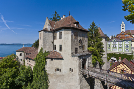 Germany,Baden-Wurttemberg,Meersburg,View Of Old Castle Near Lake Constance