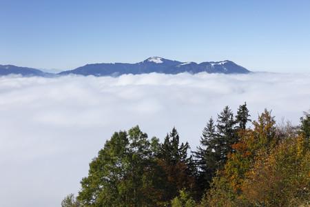 Germany,Bavaria,Upper Bavaria,View Of Mountain