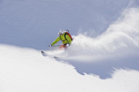 Austria,Young Woman Doing Alpine Skiing