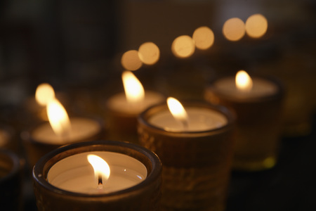 Germany,Schaeftlarn,View Of Candles For Rogation In Church,Close Up