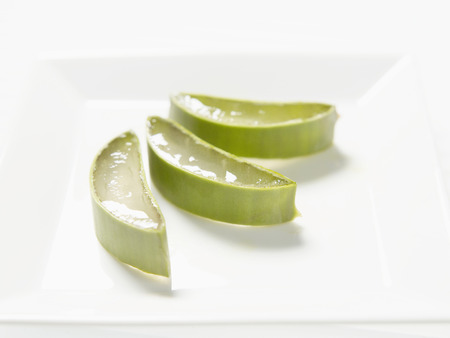 Slices Of Aloe Vera,Close Up