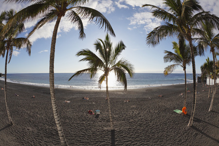Spain,Canary Islands,La Palma,People On Beach LANG_EVOIMAGES