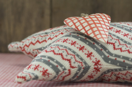 Star Shape Pillow And Christmas Decoration,Close Up