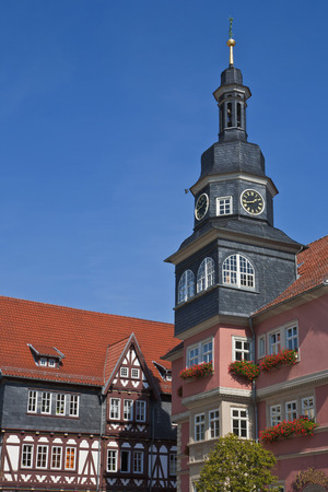 Germany,Thuringia,Eisenach,View Of Town Hall At Market Place