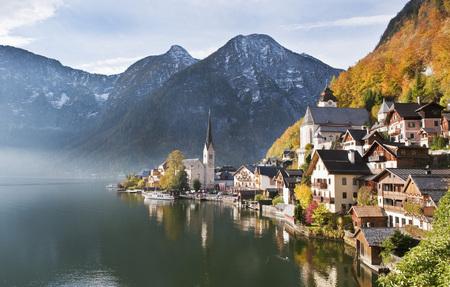 Austria,Upper Austria,View Of Lake Hallstaetter See LANG_EVOIMAGES