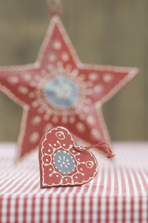 Heart And Star Shape Christmas Decoration,Close Up