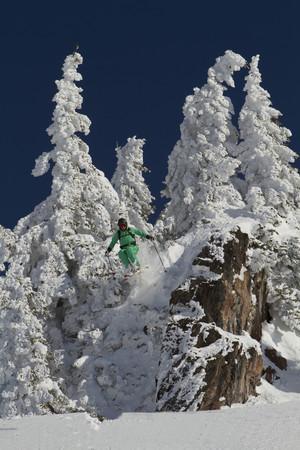 Austria,Tirol,Kitzbuehel,Man Doing Ski Jumping