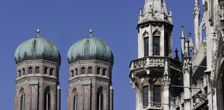 Germany,Bavaria,Munich,Town Hall And Church Of Our Lady Towers LANG_EVOIMAGES