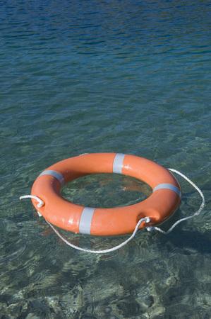 Germany,Bavaria,Lifesaver Floating On Lake Starnberg LANG_EVOIMAGES