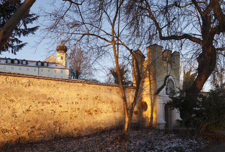 Germany,Bavaria,View Of Bernried Abbey