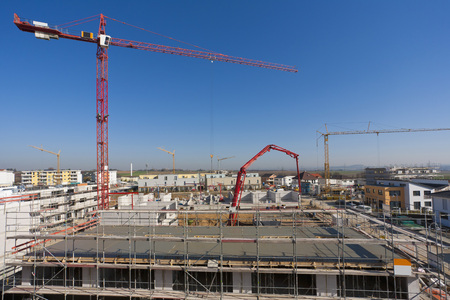 Germany,Baden Wurttemberg,Ludwigsburg,Construction Site