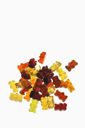 Gummi Bears On White Background