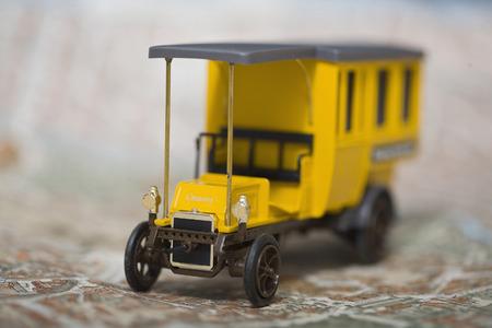 Old Timer Truck On Map,Close Up LANG_EVOIMAGES