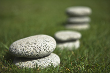 Germany,Braunschweig,Stones In Grass,Close Up LANG_EVOIMAGES