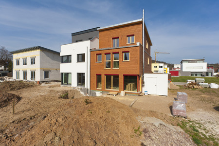 Germany,Baden Wurttemberg,Construction Of House Building