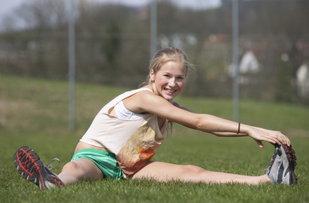 Austria,Teenage Girl Doing Gymnastics,Smiling,Portrait