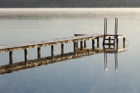 Germany,Bavaria,Footbridge At Lake Starnberg