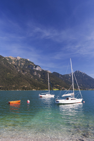Austria,Tyrol,Sailing Boats In Achensee Lake LANG_EVOIMAGES