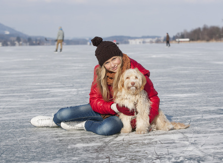 Austria,Teenage Girl With Dog,Smiling,Portrait