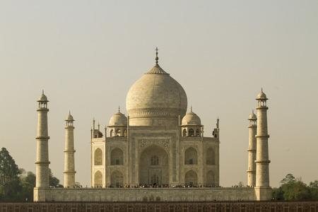 India,Agra,People At Taj Mahal