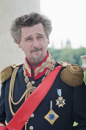 Germany,Man As King Ludwig Of Bavaria Looking Away LANG_EVOIMAGES