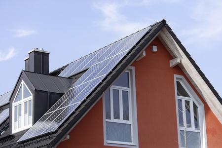 Europe,Germany,Bavaria,Munich,Solar Panels On Roof LANG_EVOIMAGES