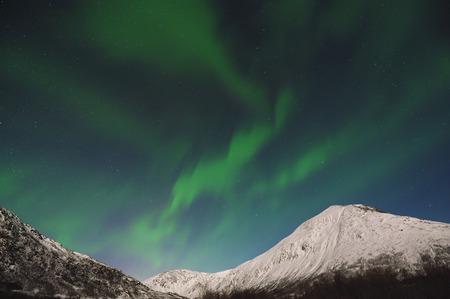 Norway,Troms,View Of Aurora Borealis Near Tromso