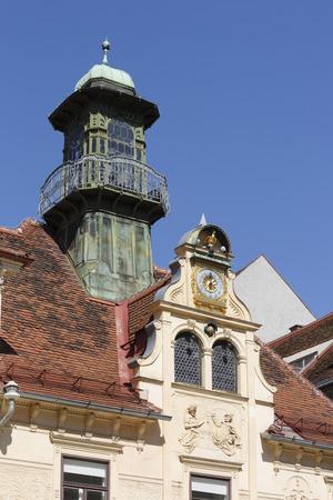 Austria,Styria,Graz,View Of Glockenspiel House