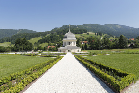 Austria,Styria,View Of St. Lambrecht Abbey At Pavillon LANG_EVOIMAGES
