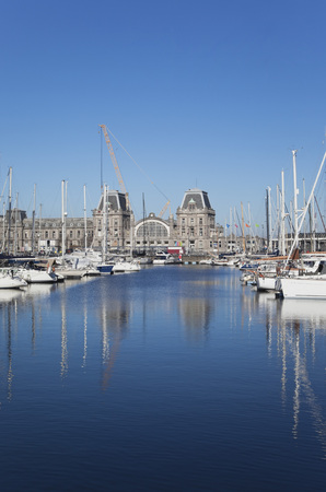 Belgium,Oostende,View Of Harbour At North Sea