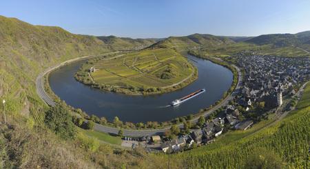 Germany,Rhineland-Palatinate,Moselle Loop Near Bremm With Vineyard