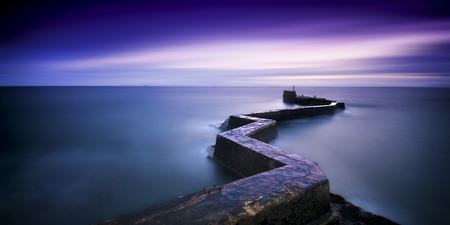 Uk,Scotland,View Of St Monans During Sunset