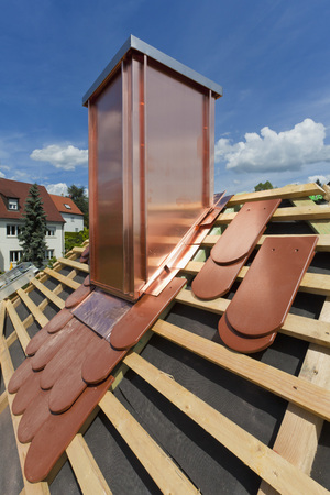 Germany,Baden-Wuerttemberg,Stuttgart,Construction Of Roof