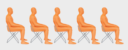 Men In Orange Zentai Sitting On Chair,Close Up LANG_EVOIMAGES