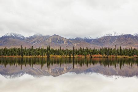 Usa,Alaska,View Of Landscape In Autumn