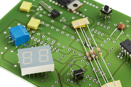 Close Up Of Printed Circuit Board LANG_EVOIMAGES