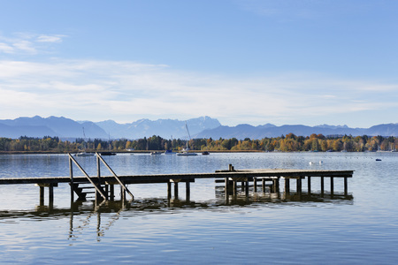 Germany,Bavaria,View Of Lake Starnberg