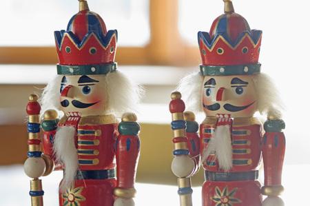 Close Up Of Nutcracker Figurines