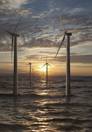 Germany,Wind Turbines In North Sea