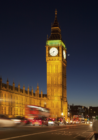 United Kingdom,London,View Of Clock Tower At Westminster