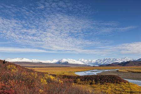 Usa,Alaska,View Of Mclaren River,Mclaren Glacier And Alaska Range LANG_EVOIMAGES