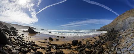 Portugal,View Of Ponta Ruiva Beach