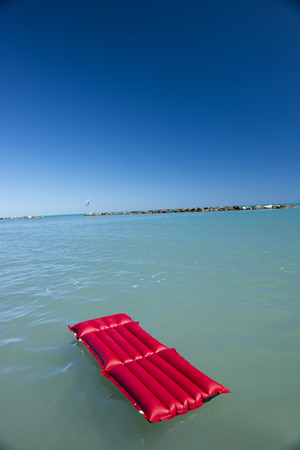 Italy,Air Mattress Floating On Water