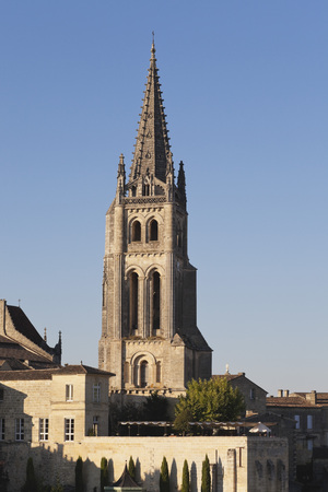 France,View Of Saint Emilion And Bell Tower Of The Monolithic Church LANG_EVOIMAGES