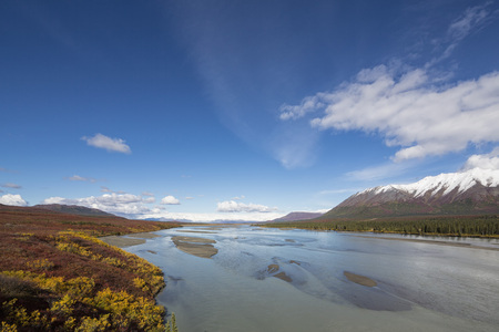 Usa,Alaska,View Of Susitna River And Landscape In Autumn LANG_EVOIMAGES